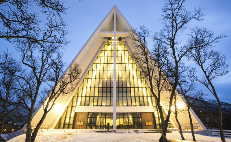 norway tromso arctic cathedral winter istock