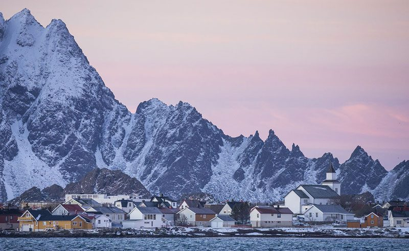norway vesteralen andenes town winter light mc 1