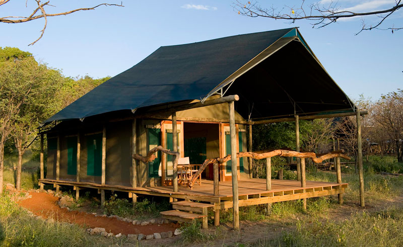 ongava tented camp bedroom exterior