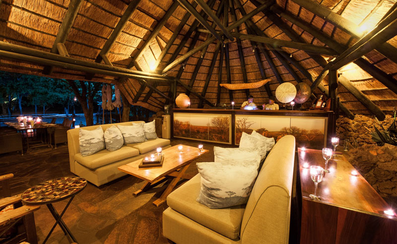ongava tented camp sitting area