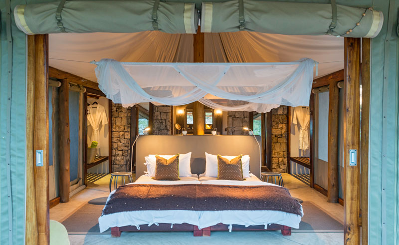 onguma tented camp bedroom interior