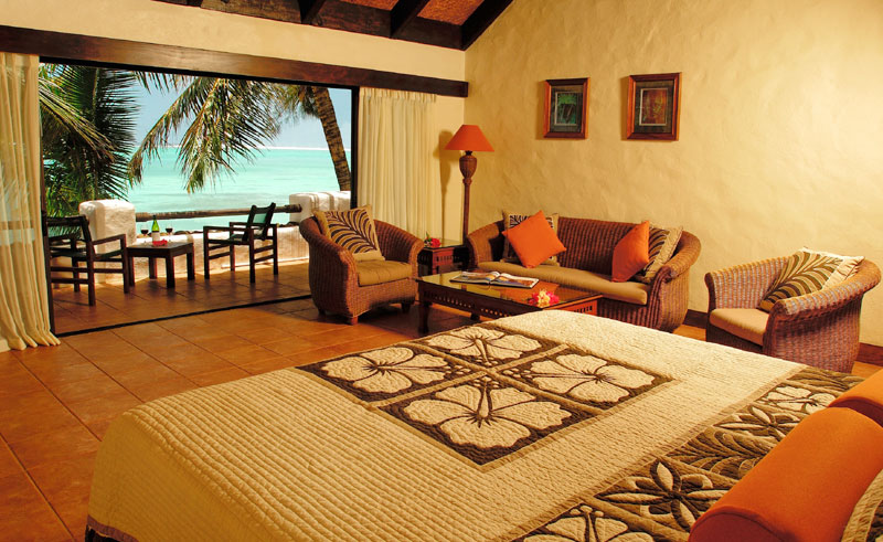 pacific resort rarotonga beachfront suite