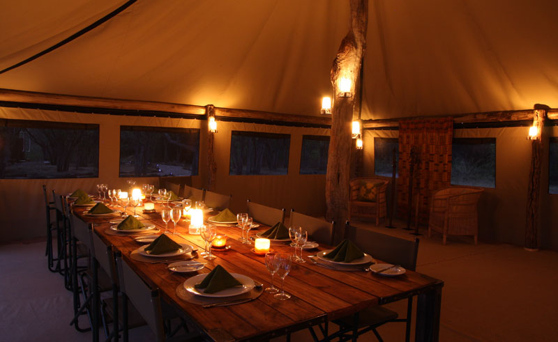 sango safari camp dining