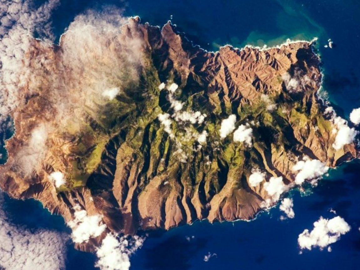st helena aerial view