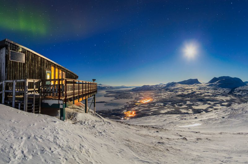 sweden lapland abisko aurora sky station evening view rth