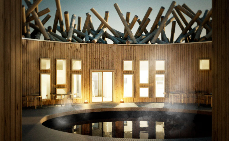 sweden lapland arctic bath patio