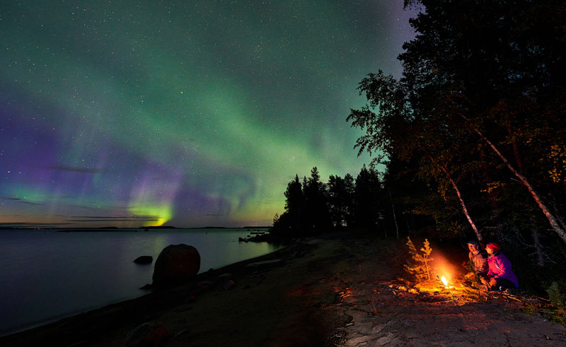 sweden lapland autumn campfire brandon lodge