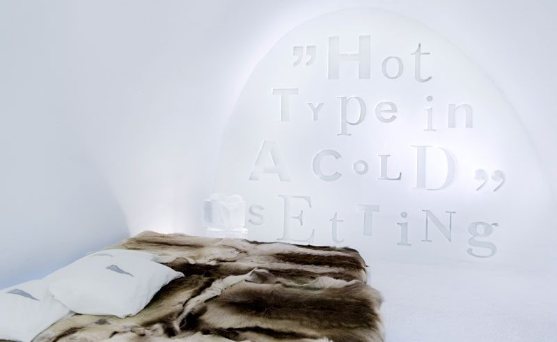 sweden lapland icehotel art suite hot type cold setting