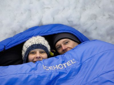 sweden lapland icehotel sleeping bags db