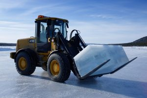 sweden lapland icehotel tractor block rth