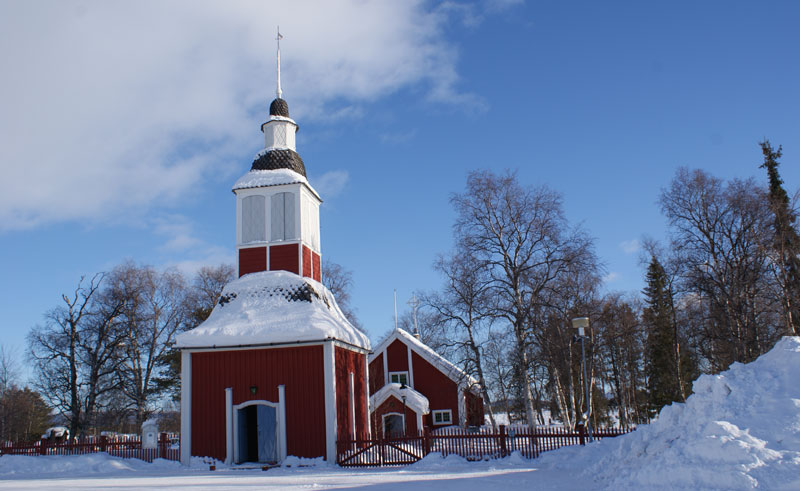 sweden lapland jukkasjarvi church