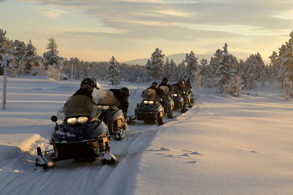 sweden lapland snowmobile safari istk
