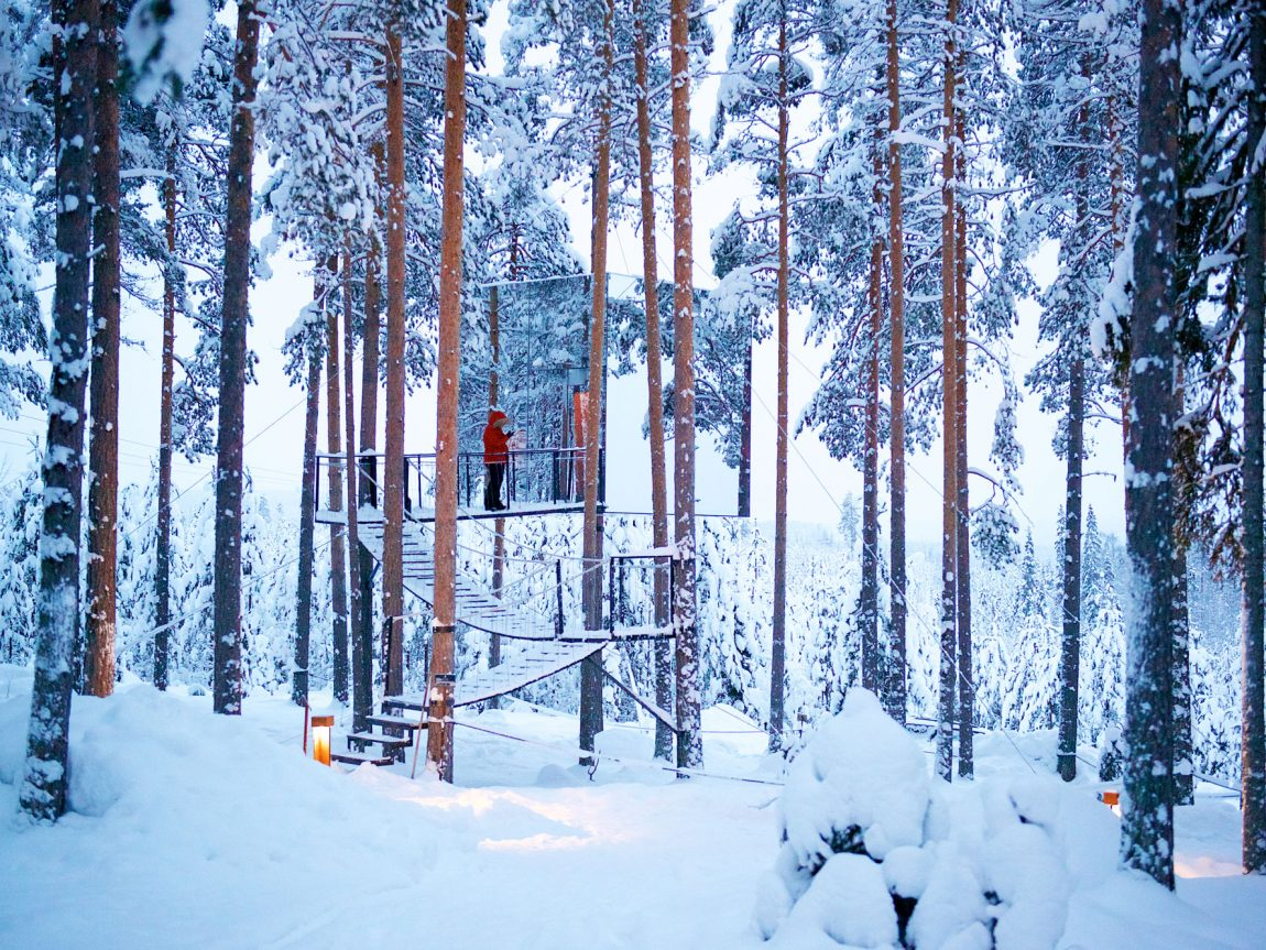 sweden lapland treehotel mirror cube gr