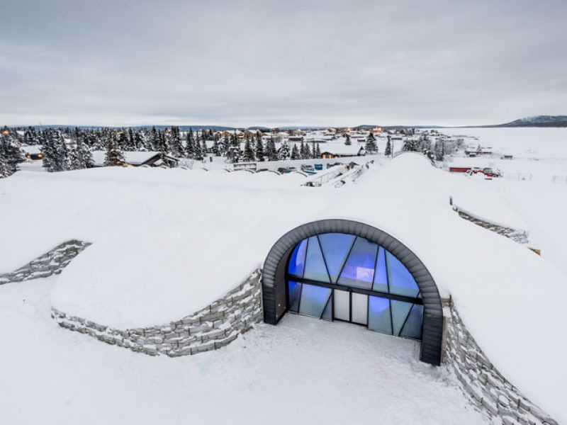 swedish lapland icehotel365 exterior entrance 1617 ih