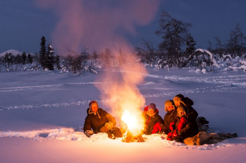 swedish lapland lannavaarra camp fire aml