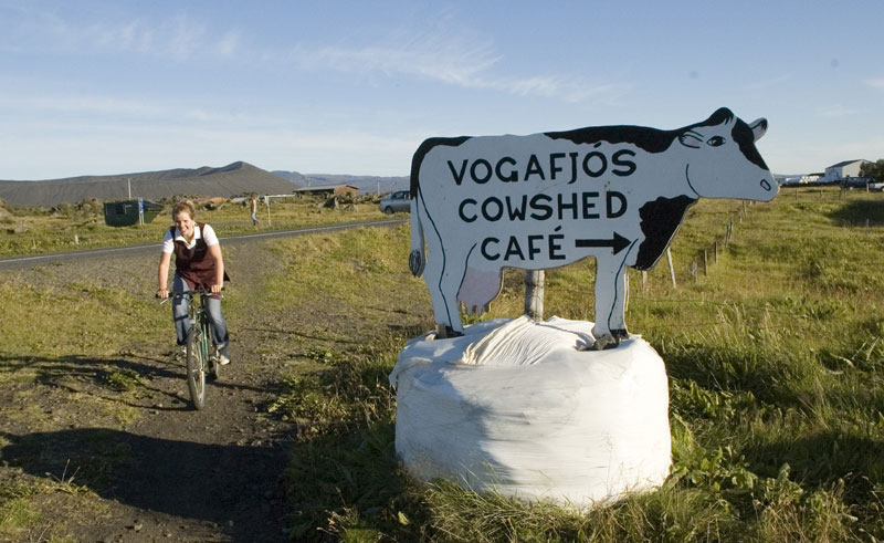 vogafjos guesthouse cowshed cafe