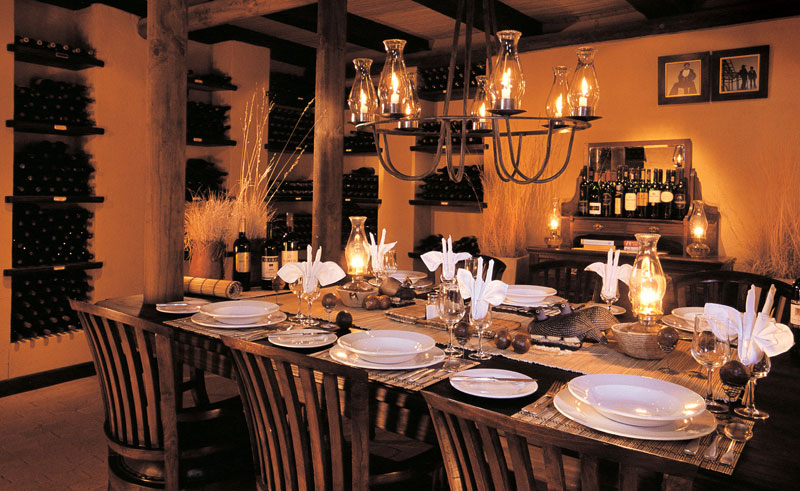 wolwedans dune lodge dining