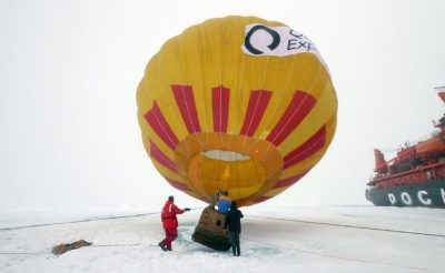 arctic north pole hot air ballooning qe
