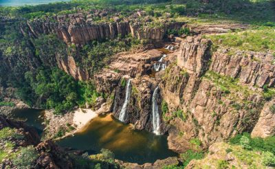 australia kakadu national park scenic flight over twin falls waterfall