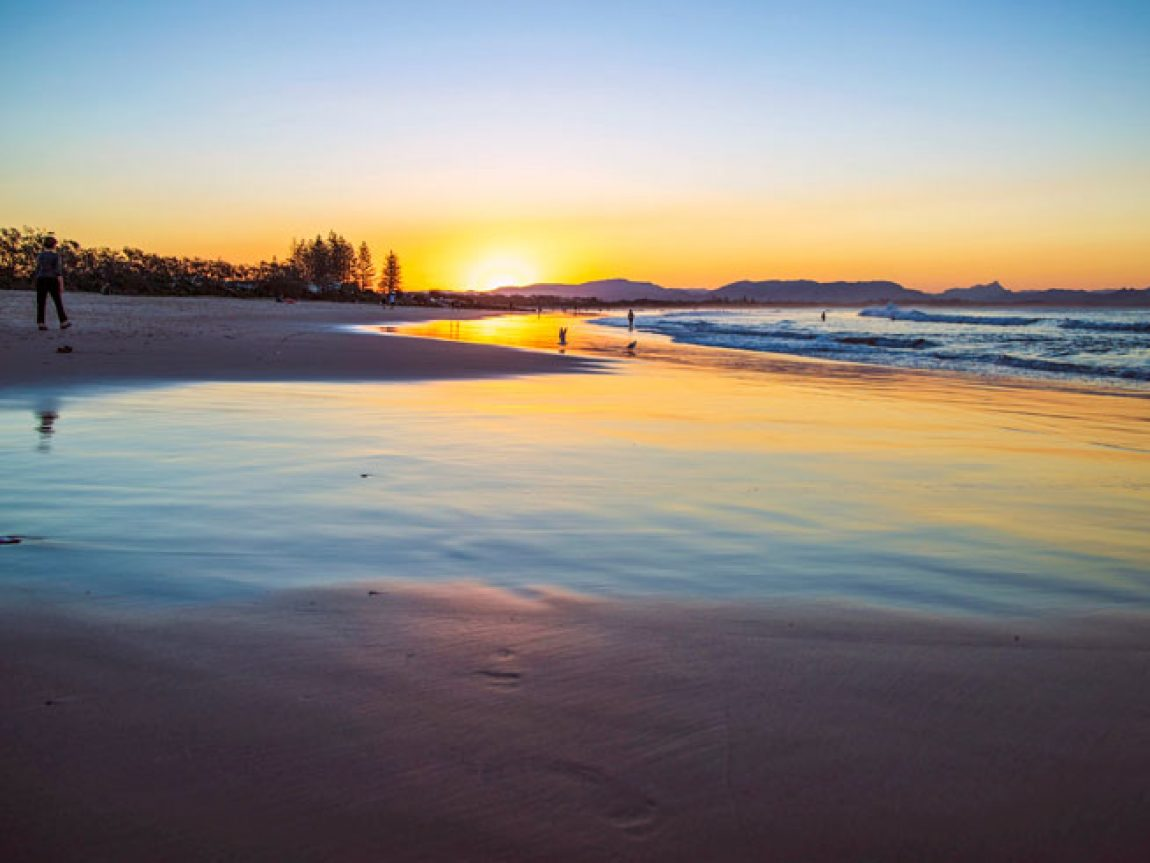 australia new south wales byron bay beach sunrise