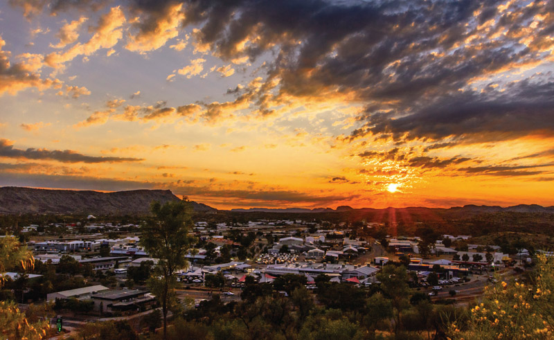 australia northern territory alice springs sunset