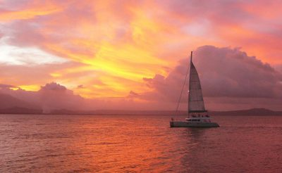 australia queensland tropical journeys aquarius sailing sunset