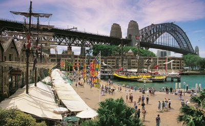 australia sydney the rocks and harbour bridge dnsw