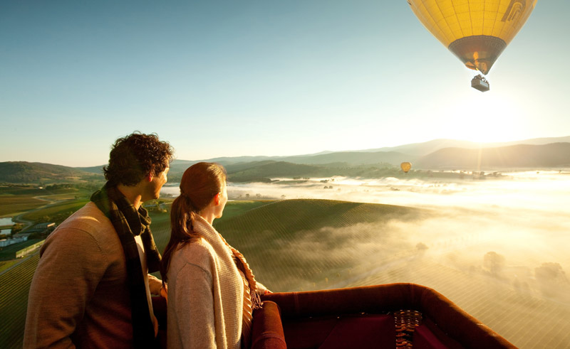 australia victoria yarra valley hot air balloon