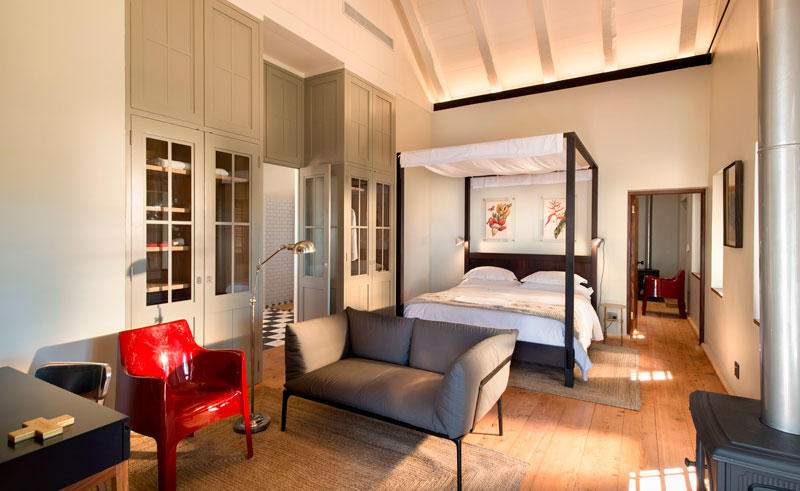 babylonstoren farm hotel bedroom
