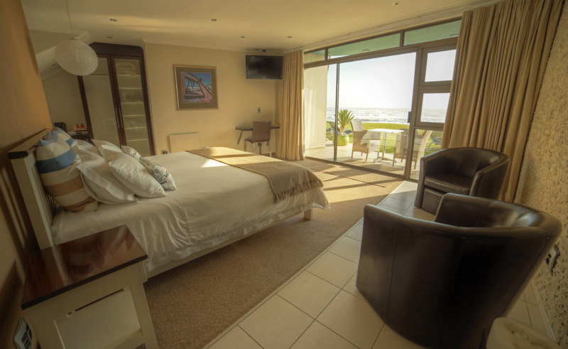 beach lodge bedroom view