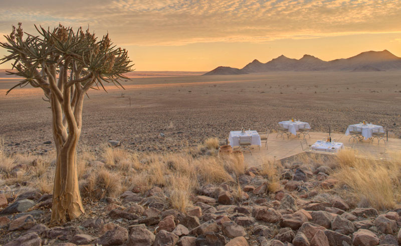 beyond sossusvlei desert lodge dining and a view