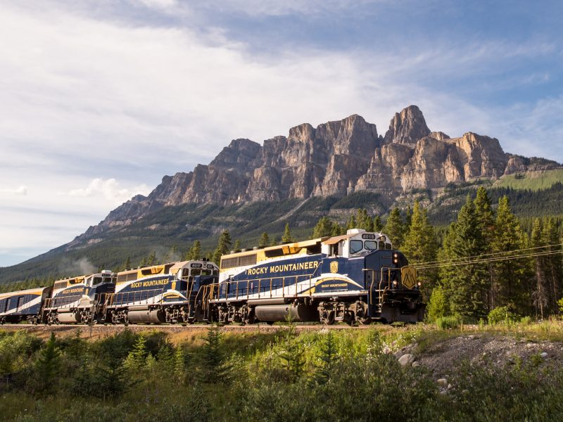 Rocky Mountaineer and Castle Mountain