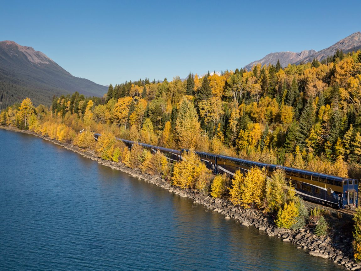 canada rocky mountaineer train through fall foliage rm