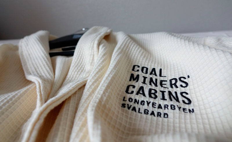 coal miners cabins robe detail
