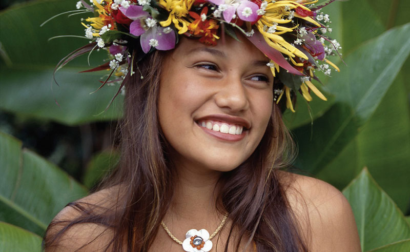 cook islands local girl