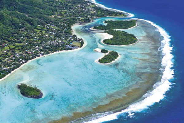 cook islands rarotonga aerial view cit