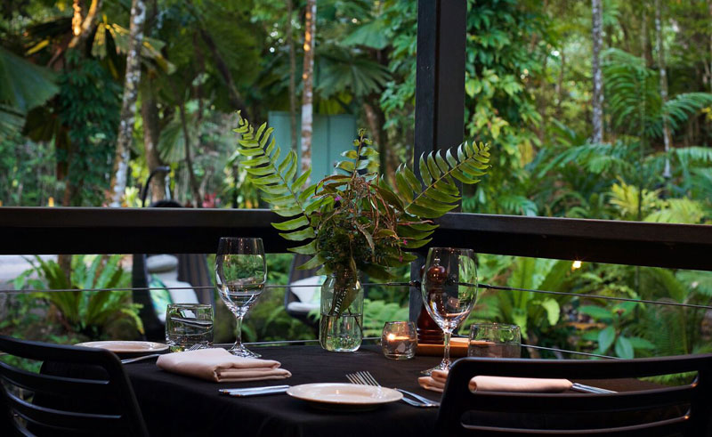 daintree eco lodge outdoors dining