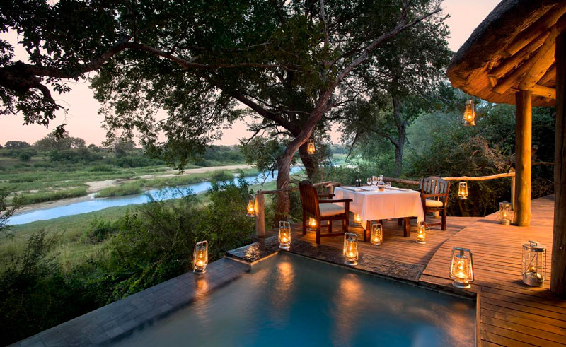 dulini river lodge private dining