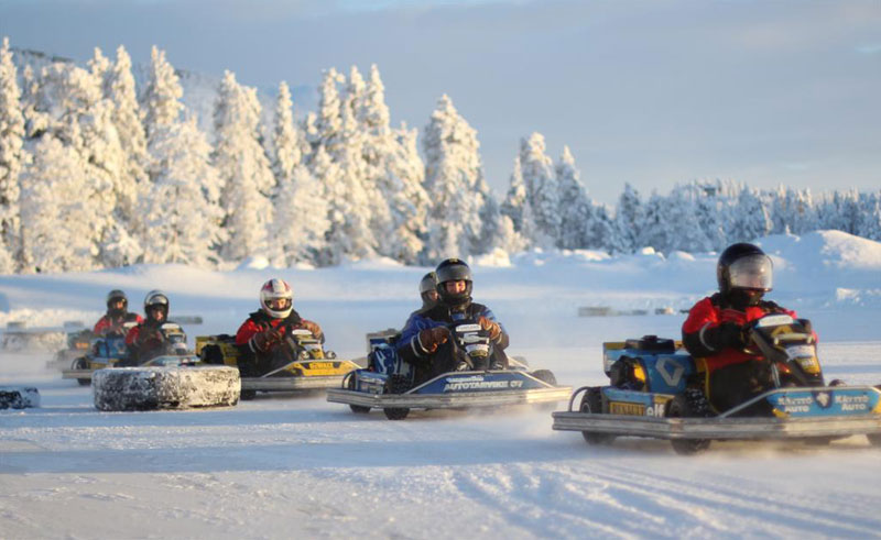 finnish lapland ruka ice karting