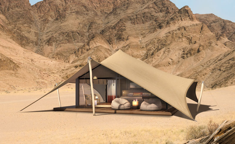 hoanib valley camp bedroom artists impression