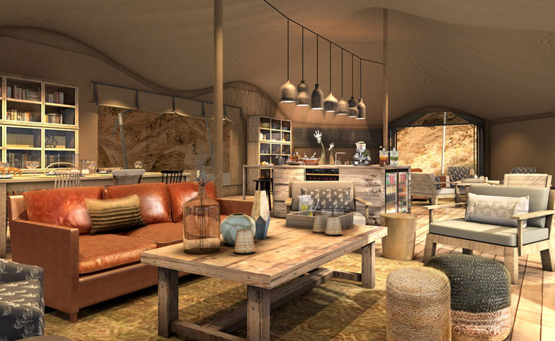 hoanib valley camp lounge artists impression
