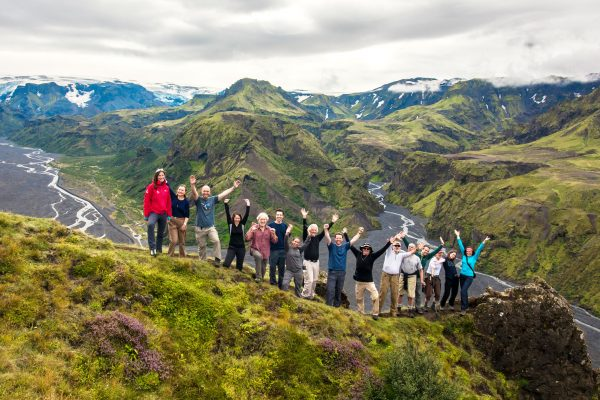iceland highlands landmannalaugar hikers img jz