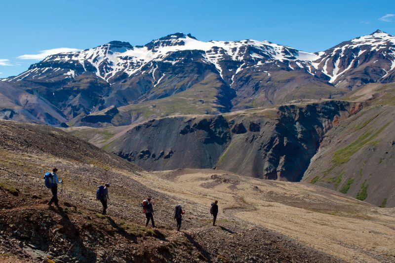 iceland highlands vatnajokull hikers img