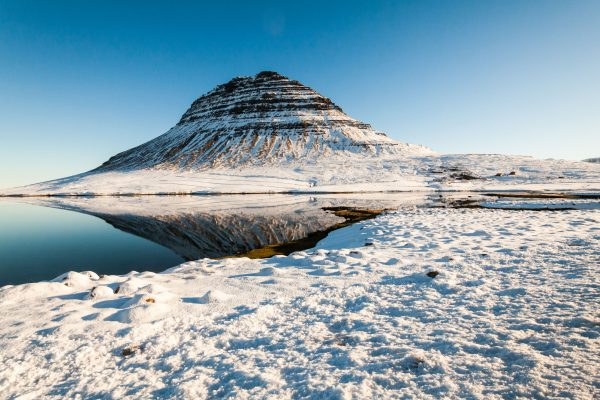 iceland snaefellsnes kirkjufell winter reflection istk