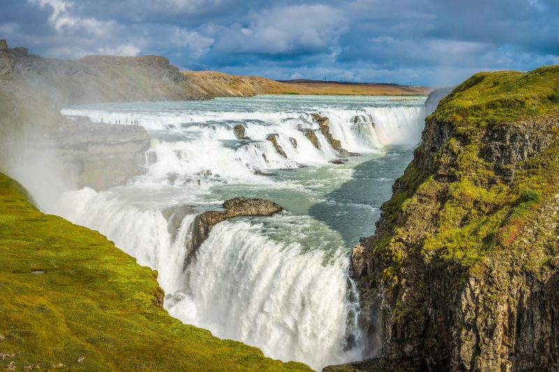 iceland south west gullfoss summer view istk