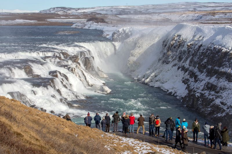 iceland south west gullfoss winter view wg