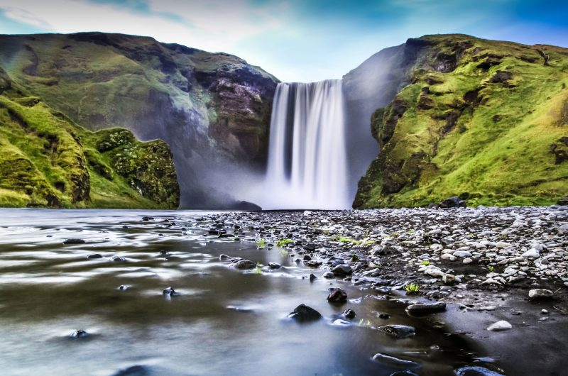 iceland south west skogafoss long exposure istk