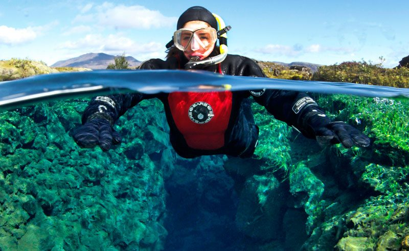 iceland south west snorkeling dive is
