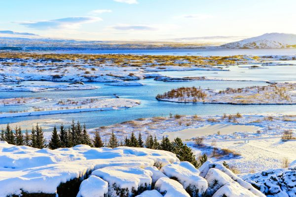 iceland south west thingvellir winter sun istk
