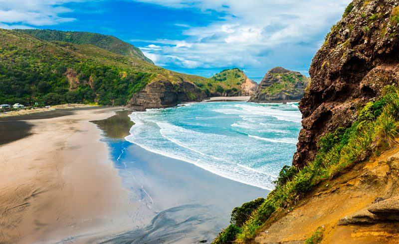 new zealand auckland piha beach as